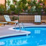 Landscaped Pool Area